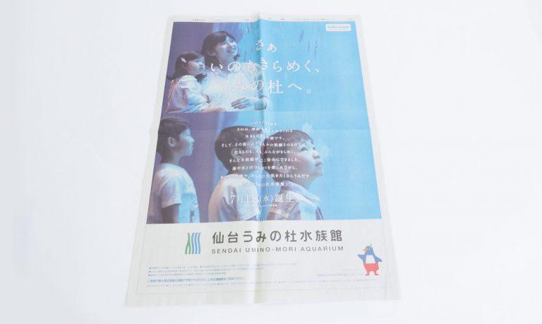 CI・VI開発、新聞15段広告、リーフレット。